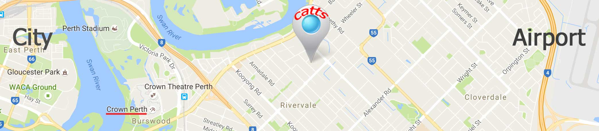 Catts Location Rivervale